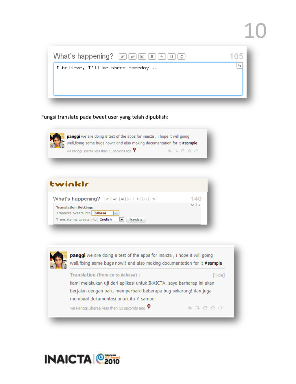 10 Fungsi translate pada tweet user yang telah ...