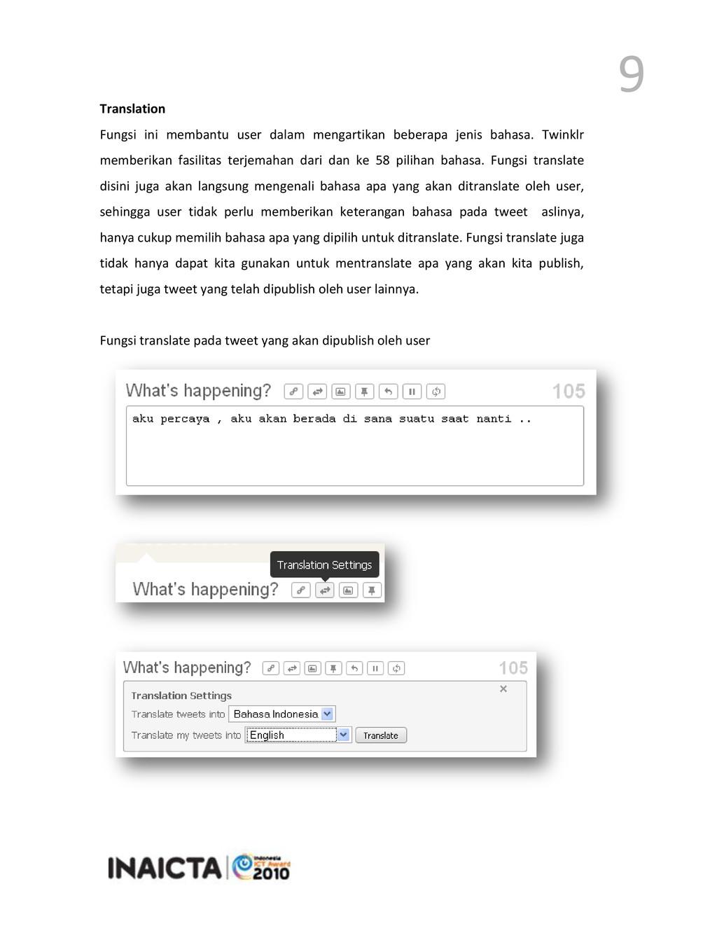 9 Translation Fungsi ini membantu user dalam me...