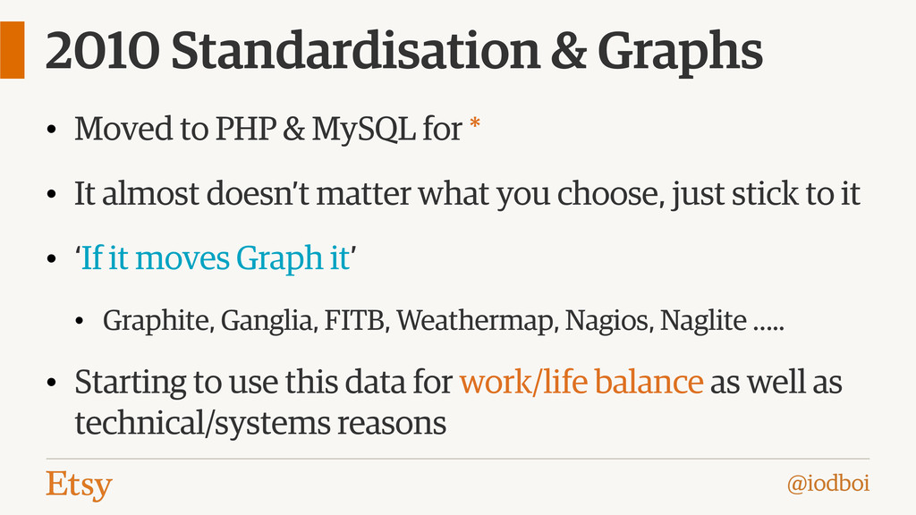 @iodboi 2010 Standardisation & Graphs • Moved t...