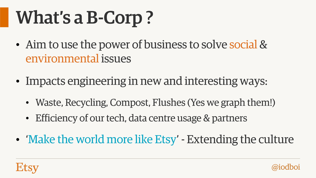 @iodboi What's a B-Corp ? • Aim to use the powe...