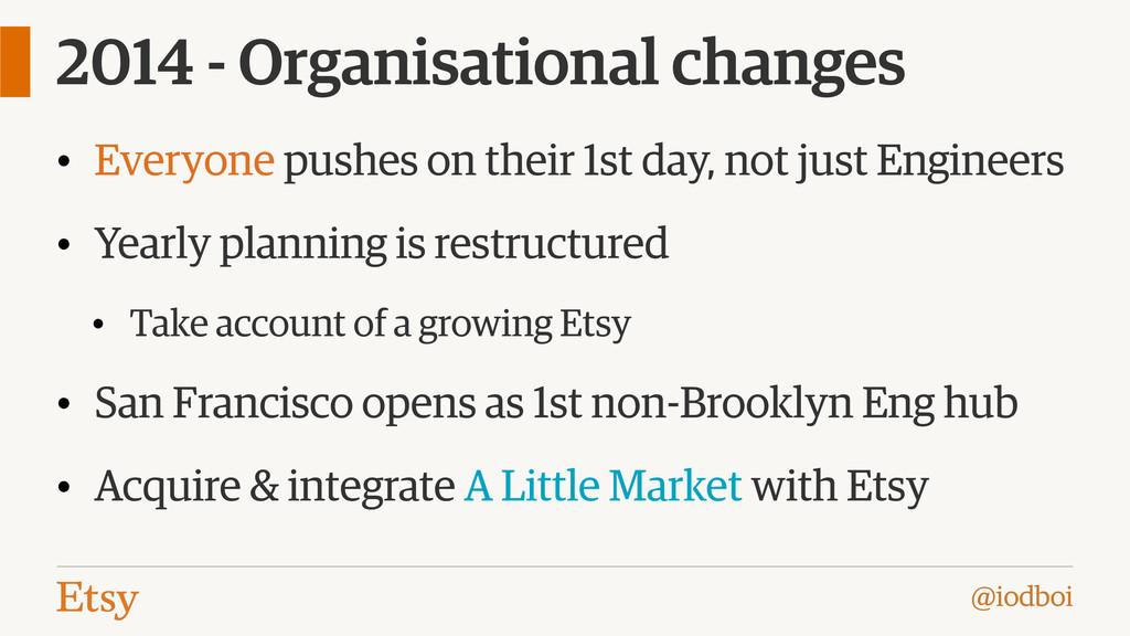 @iodboi 2014 - Organisational changes • Everyon...