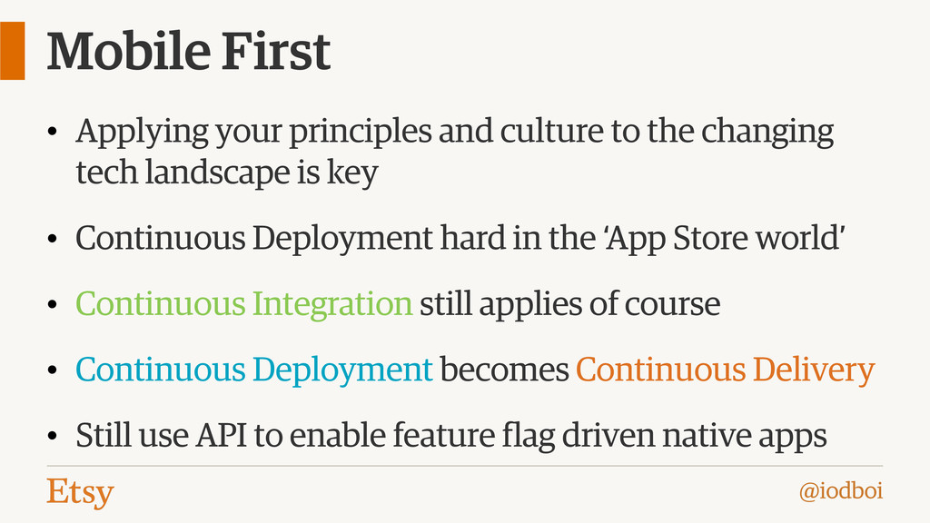 @iodboi Mobile First • Applying your principles...