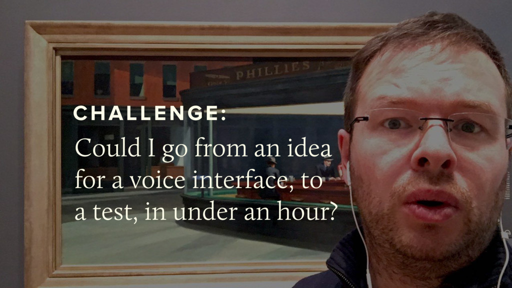 @bensauer Could I go from an idea for a voice i...
