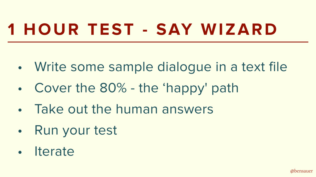 @bensauer 1 HOUR TEST - SAY WIZARD • Write some...