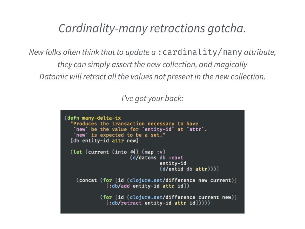 Cardinality-many retractions gotcha. I've got y...