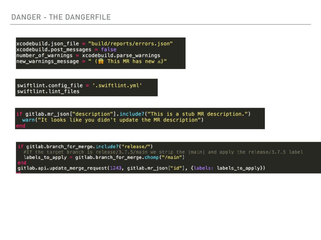 DANGER - THE DANGERFILE