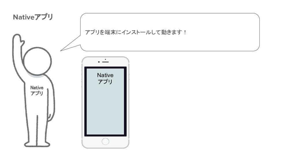 Native アプリ Nativeアプリ Native アプリ アプリを端末にインストールして...
