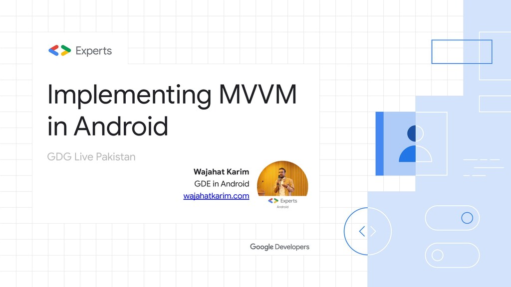 Implementing MVVM in Android Wajahat Karim GDE ...
