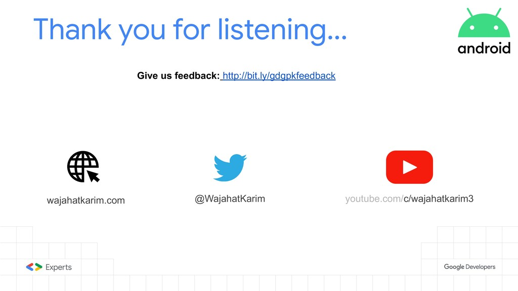 Thank you for listening... Give us feedback: ht...
