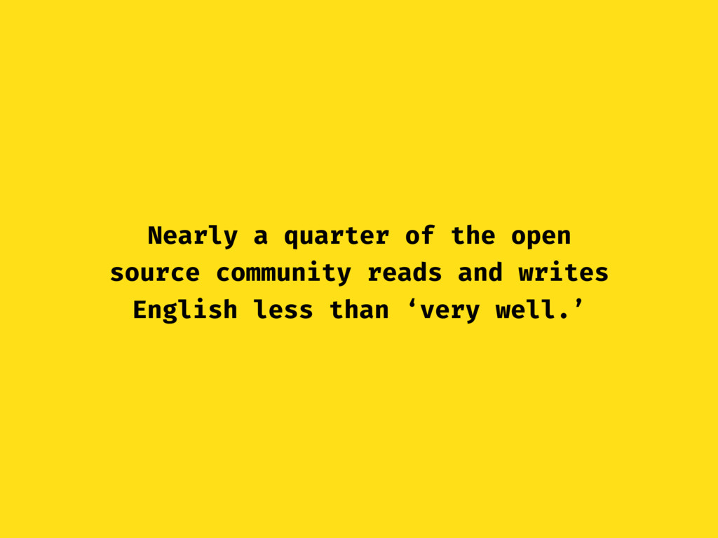 Nearly a quarter of the open source community r...