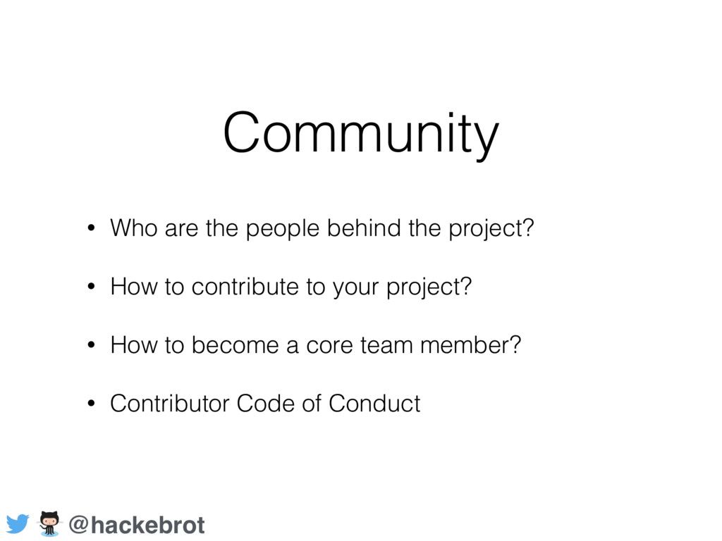 Community • Who are the people behind the proje...