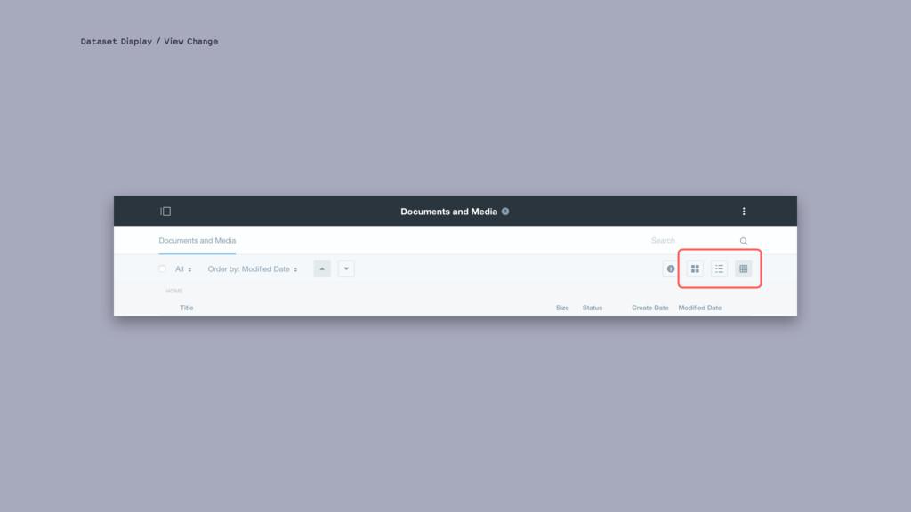 Dataset Display / View Change