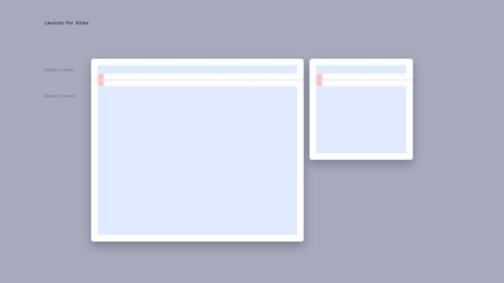 Lexicon for Sites Widget toolbar Widget Content...