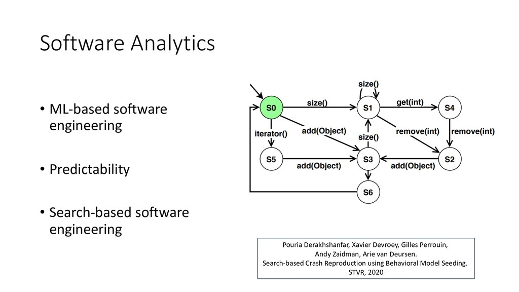 Software Analytics • ML-based software engineer...