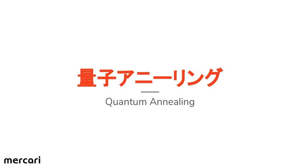 量子アニーリング Quantum Annealing