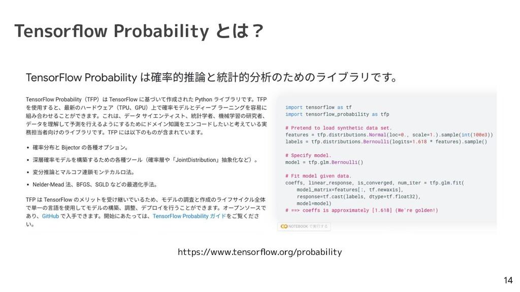 Tensorflow Probability とは? 14 https://www.tensor...