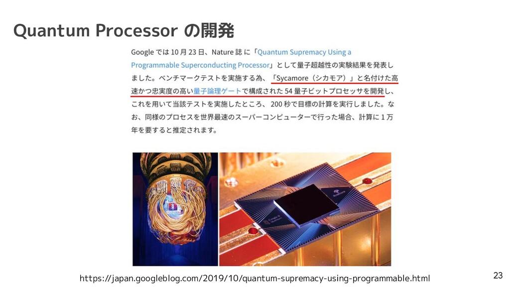 Quantum Processor の開発 23 https://japan.googlebl...
