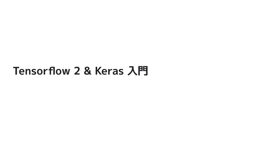 Tensorflow 2 & Keras 入門
