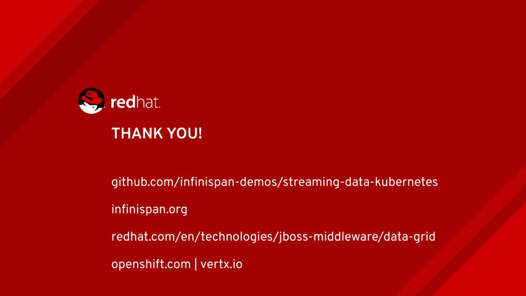 THANK YOU! github.com/infinispan-demos/streaming...