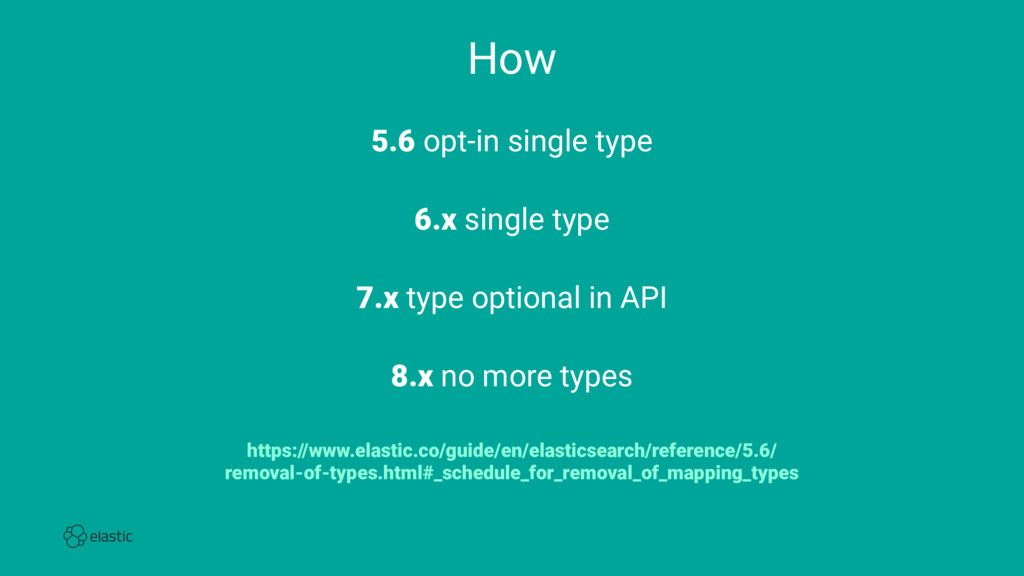 How 5.6 opt-in single type 6.x single type 7.x ...