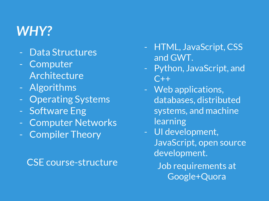 WHY? - Data Structures - Computer Architecture ...