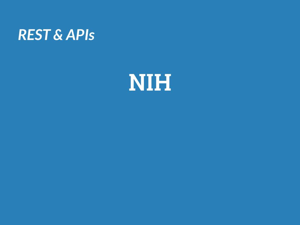 REST & APIs NIH