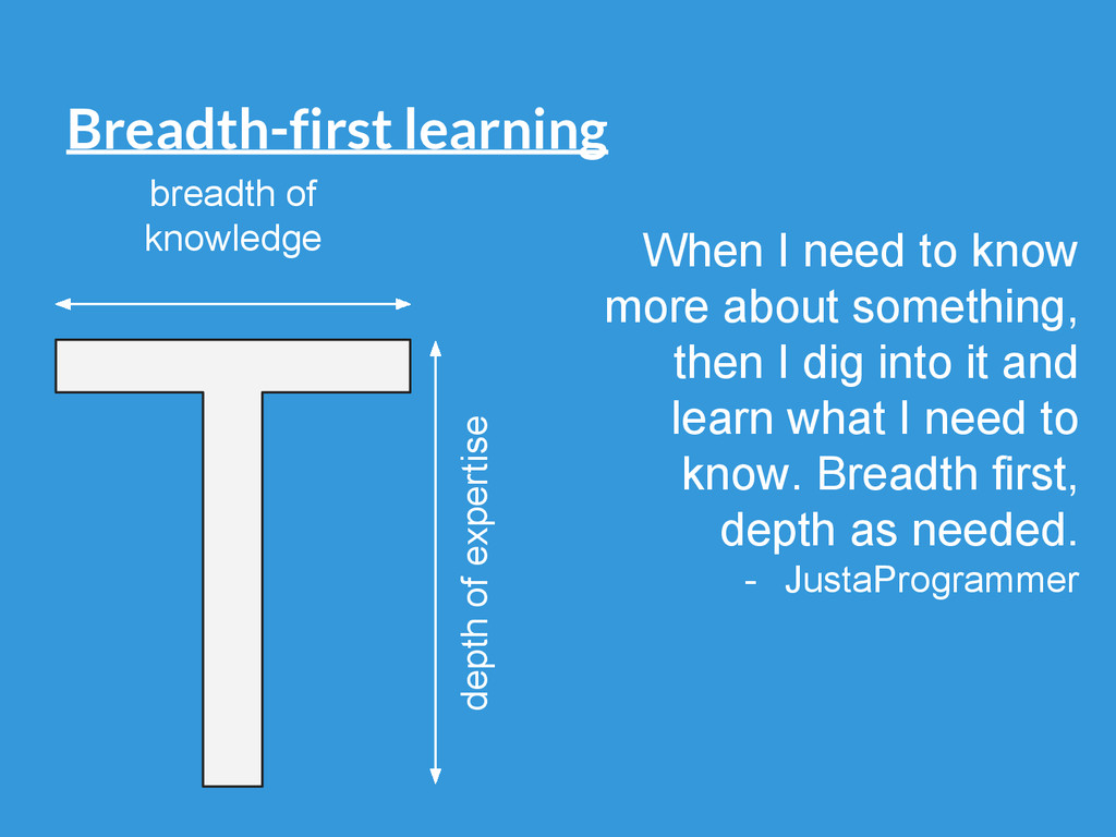 Breadth-first learning breadth of knowledge dep...
