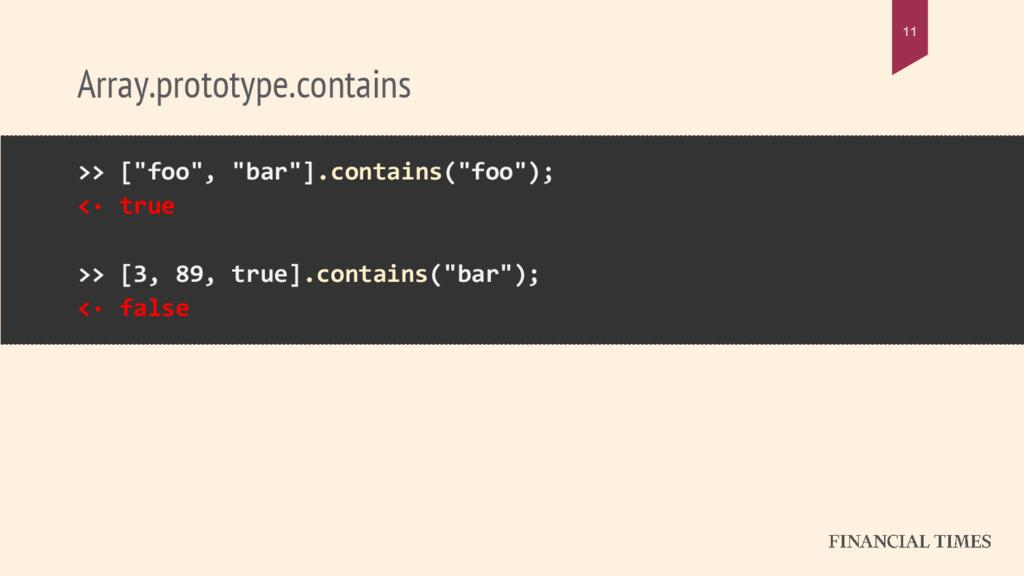 "Array.prototype.contains 11 >> [""foo"", ""bar""].c..."
