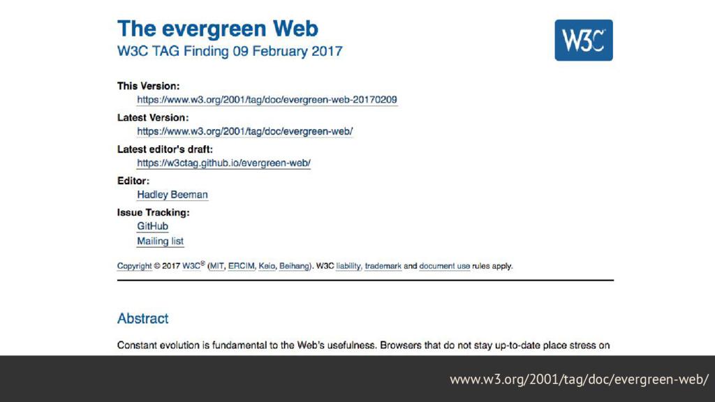 28 www.w3.org/2001/tag/doc/evergreen-web/