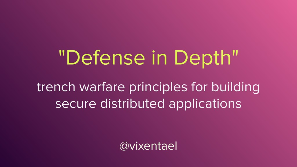 """Defense in Depth"" @vixentael trench warfare pr..."