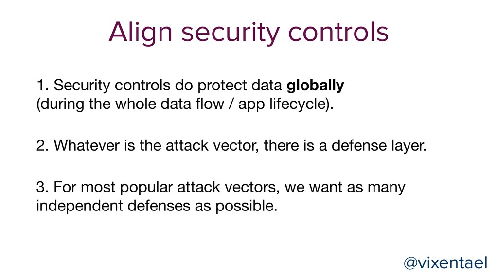 @vixentael 1. Security controls do protect data...