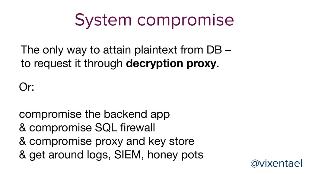 @vixentael System compromise Or:  compromise th...