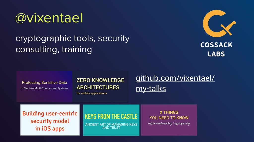 @vixentael cryptographic tools, security consul...