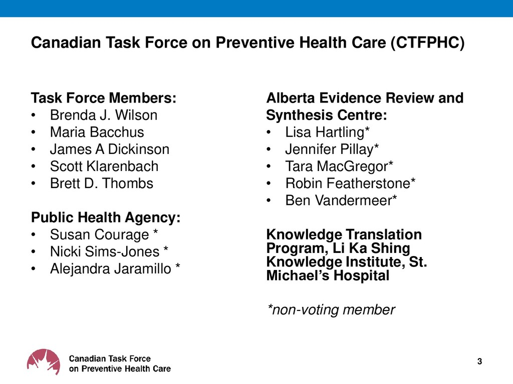 Canadian Task Force on Preventive Health Care (...