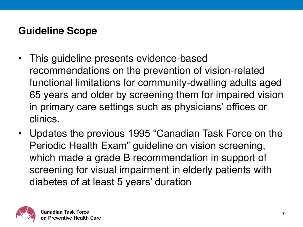 Guideline Scope • This guideline presents evide...