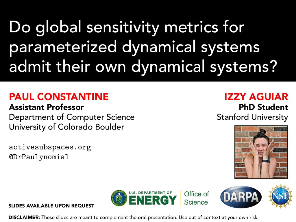 Do global sensitivity metrics for parameterized...