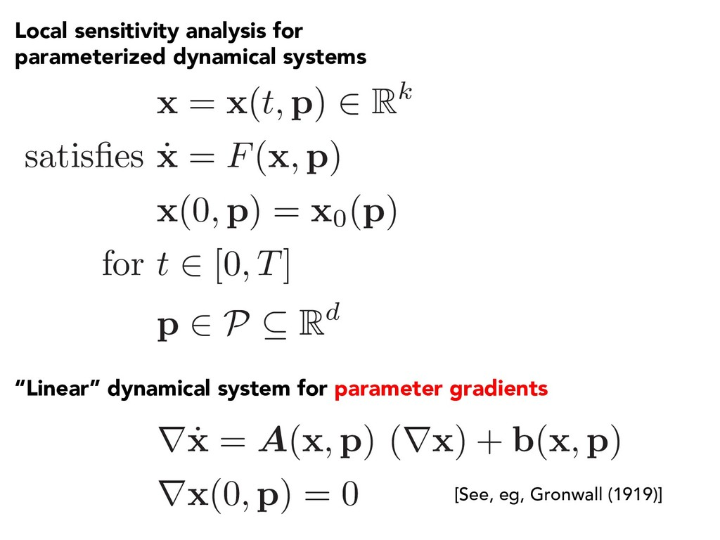 Local sensitivity analysis for parameterized dy...