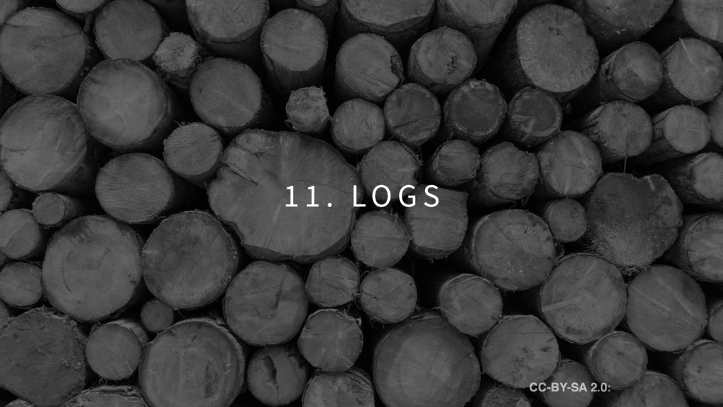 1 1 . LO G S CC-BY-SA 2.0: