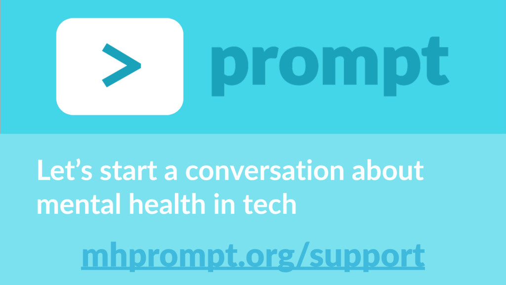 Let's&start&a&conversation&about& mental&health...