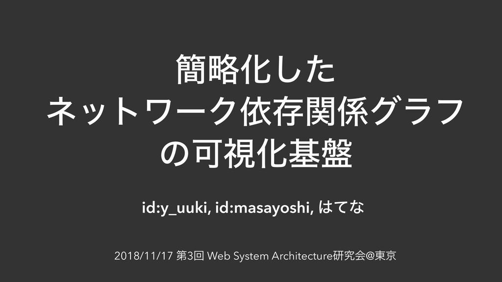 ؆ུԽͨ͠ ωοτϫʔΫґଘؔάϥϑ ͷՄࢹԽج൫ id:y_uuki, id:masayo...