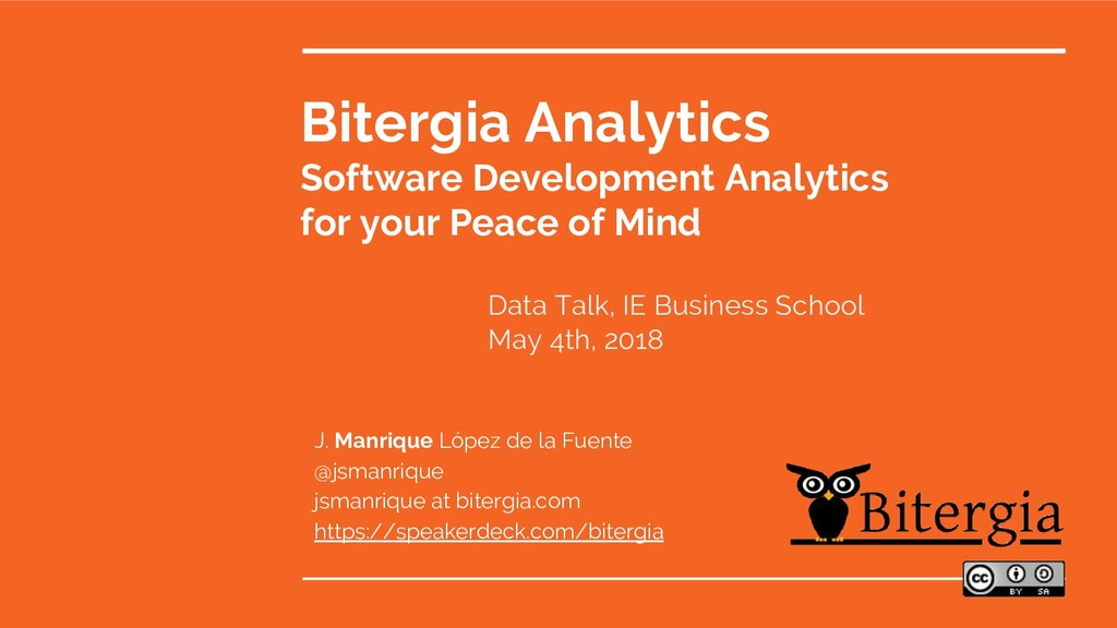 Bitergia Analytics Software Development Analyti...