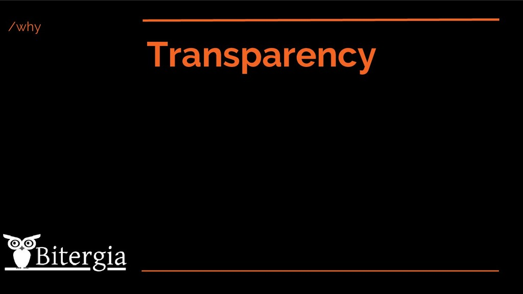 /why Transparency