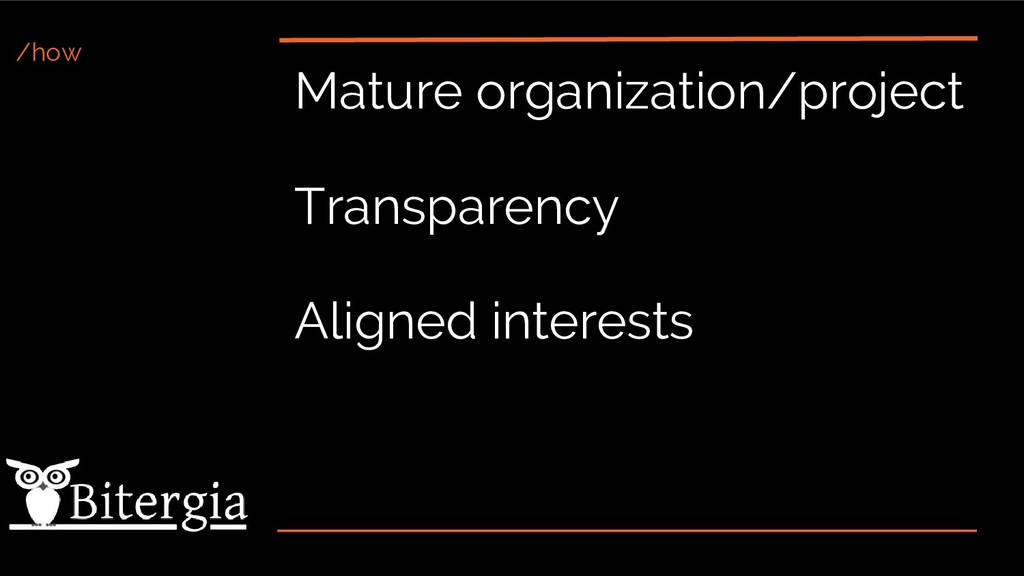 /how Mature organization/project Transparency A...