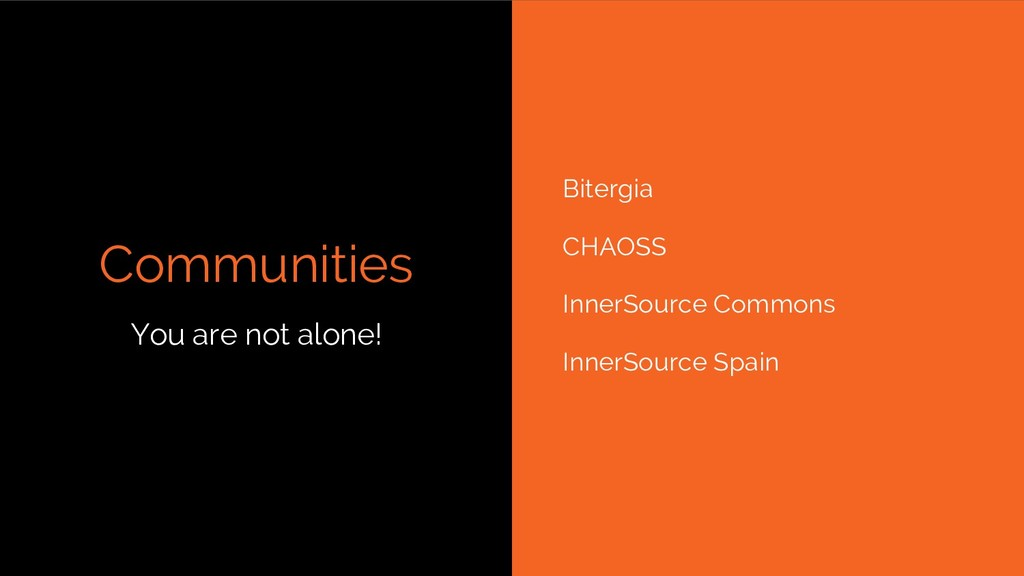 Communities Bitergia CHAOSS InnerSource Commons...
