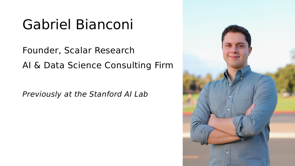 Gabriel Bianconi Founder, Scalar Research AI & ...