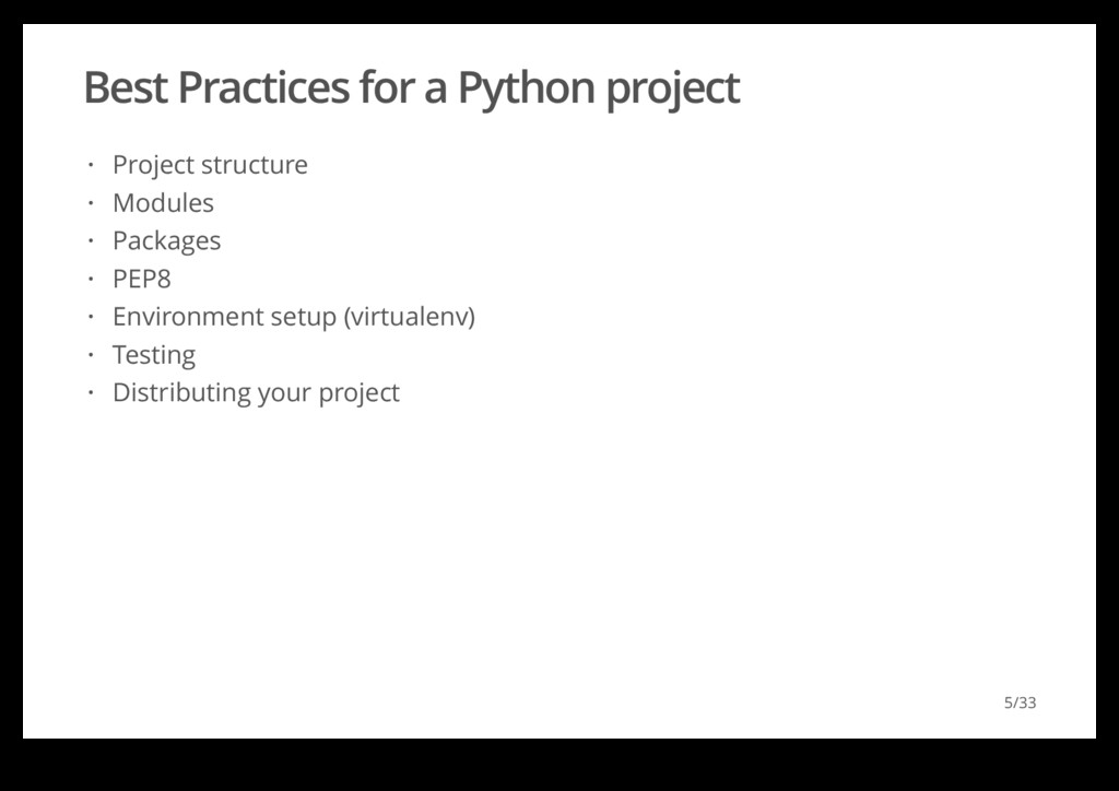 Best Practices for a Python project Project str...