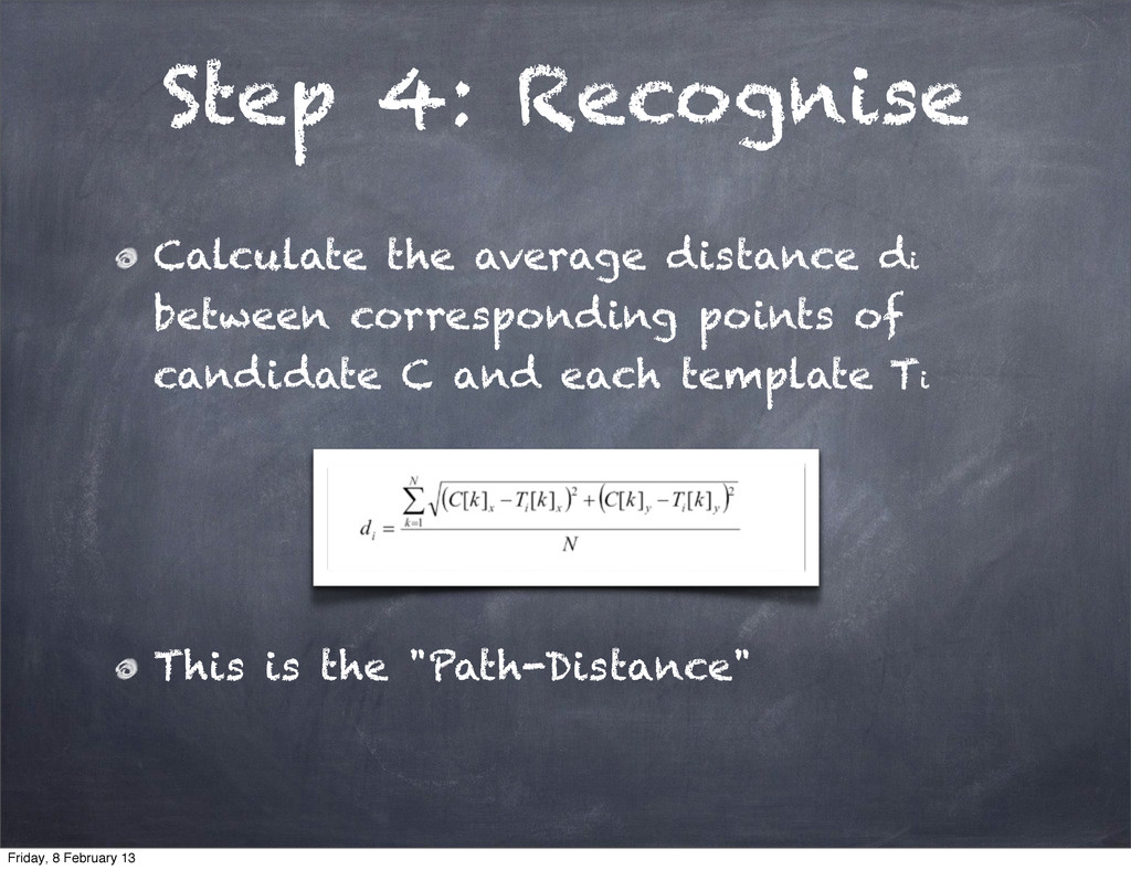 Step 4: Recognise Calculate the average distanc...