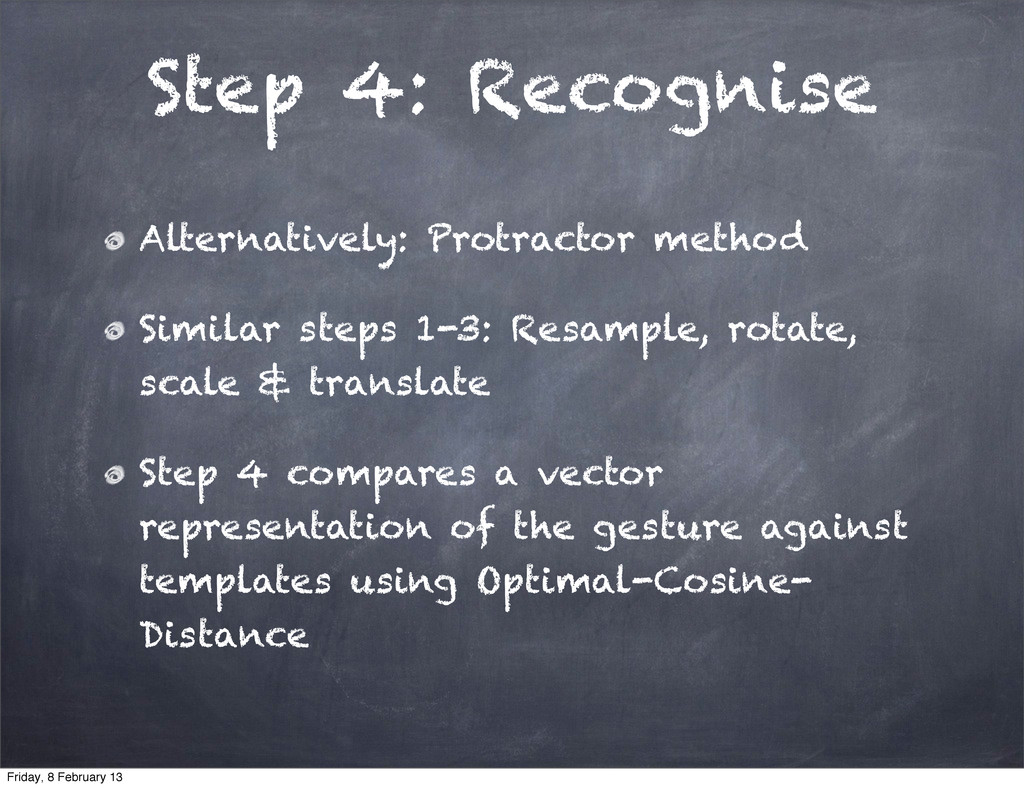 Step 4: Recognise Alternatively: Protractor met...