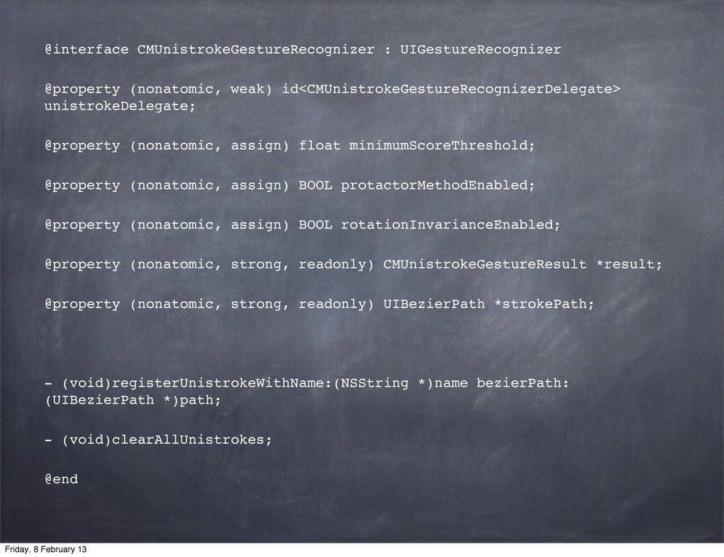 @interface CMUnistrokeGestureRecognizer : UIGes...