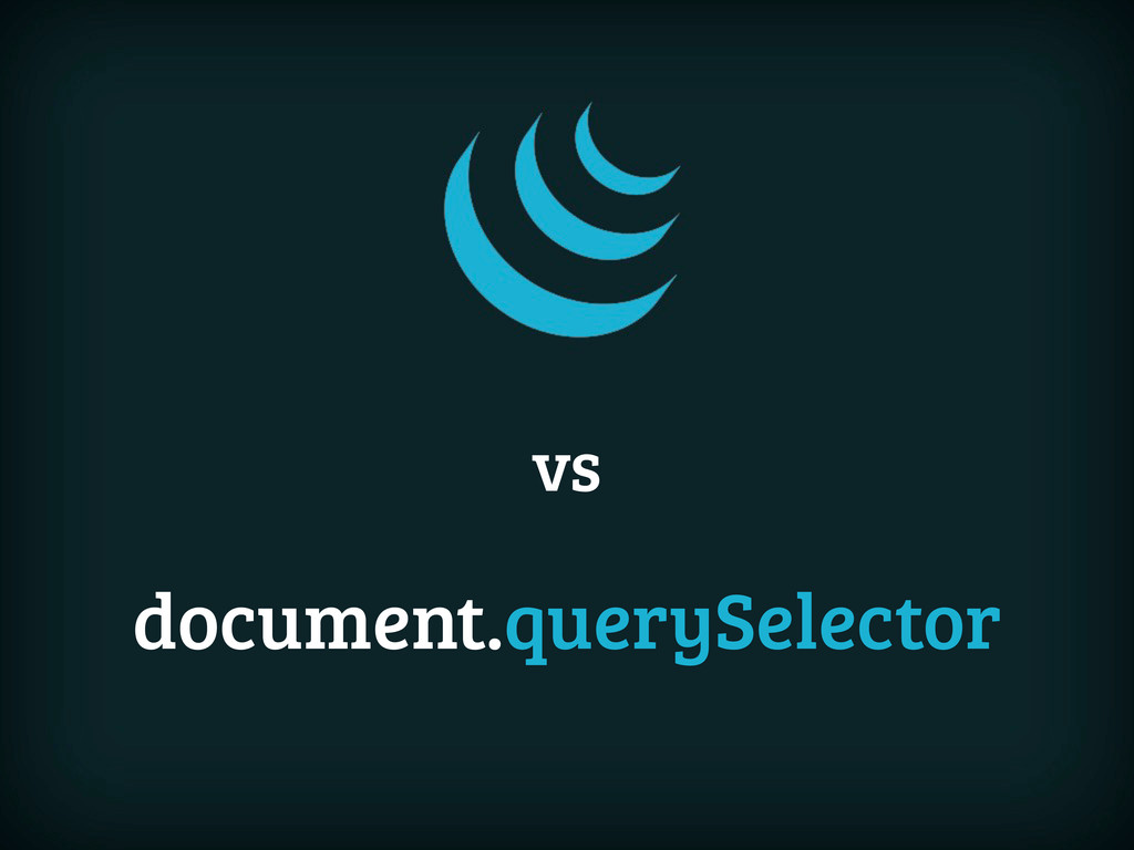 document.querySelector vs